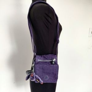 NWT $38 Kipling Midnight Purple Crossbody Purse